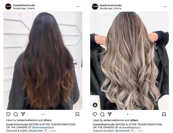 Hair style changing - before and after transformation
