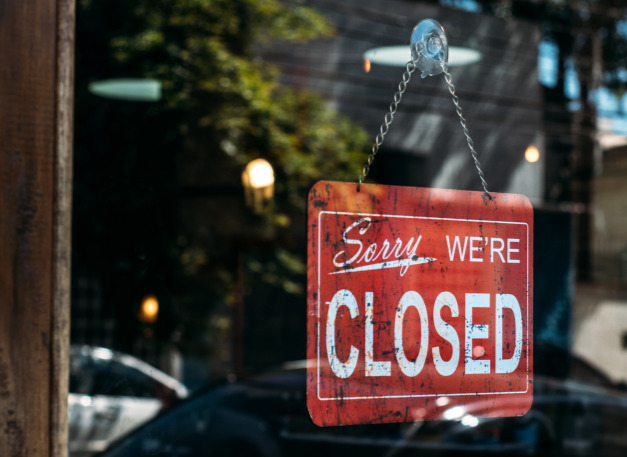 closed business signage