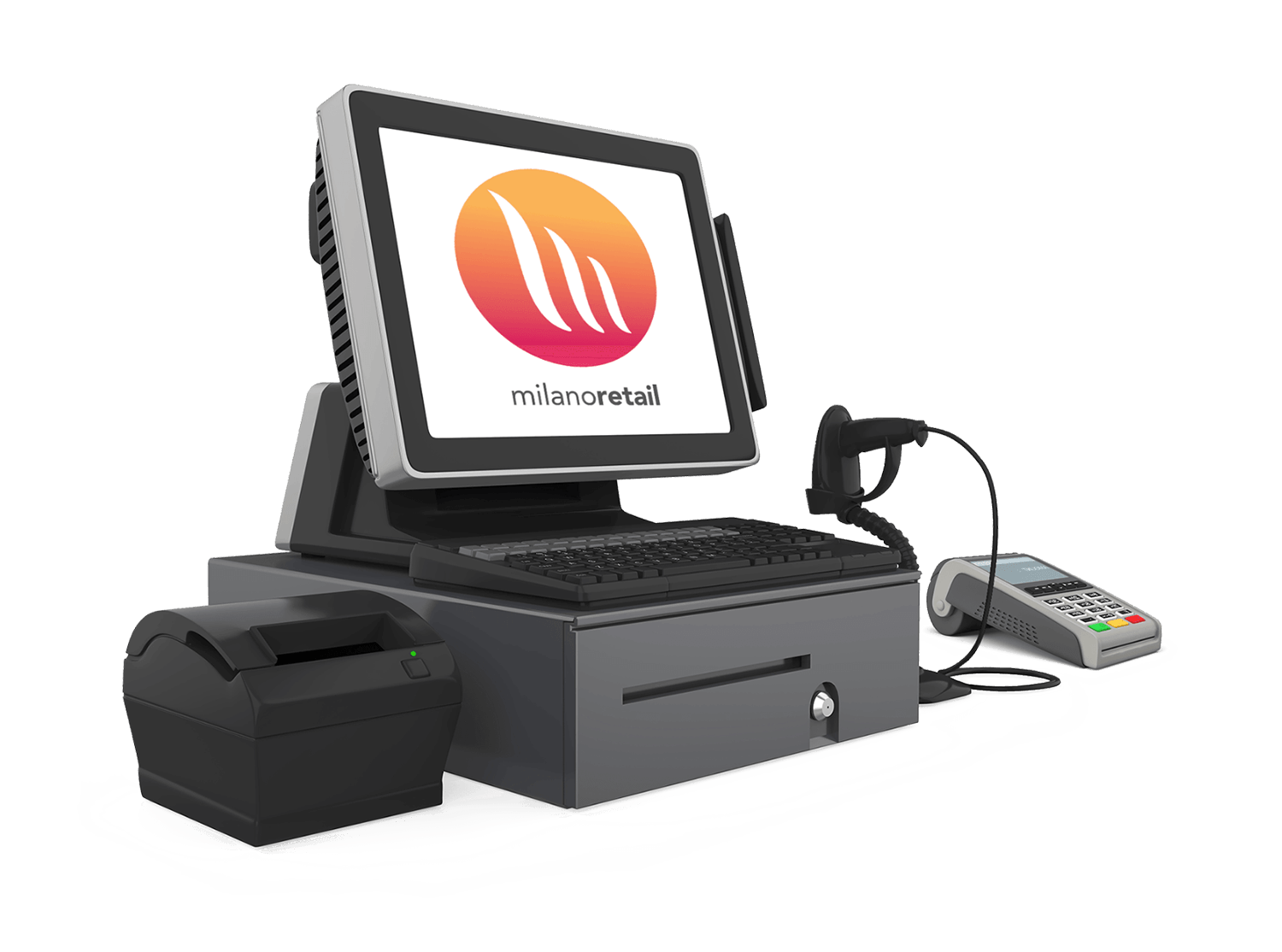 Pos Point of sale system, a feature of Milano Retail - Software for retail management with inventory management system